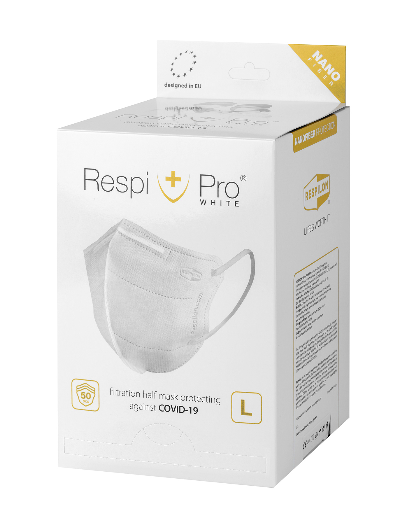 Nano RespiPro White SET 50ks